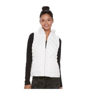 NWT Juniors' SO sherpa-lined puffer vest